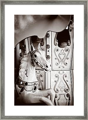 Dolly The Carousel Horse Framed Print