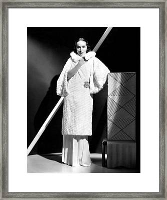 Dolores Del Rio, 1934 Framed Print by Everett