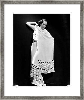 Dolores Del Rio, 1935 Framed Print by Everett