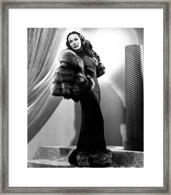 Dolores Del Rio, 1937 Framed Print by Everett