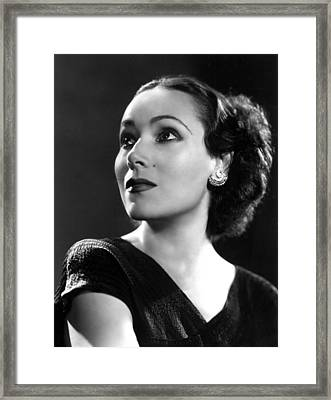 Dolores Del Rio, Ca. 1935 Framed Print by Everett