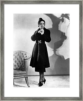 Dolores Del Rio, Ca. 1937 Framed Print by Everett