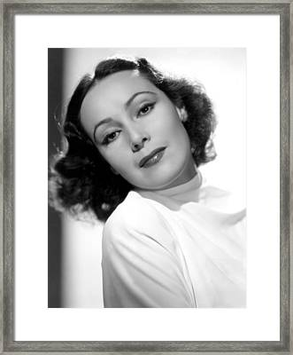 Dolores Del Rio, Fox Film Corp, 1930s Framed Print by Everett