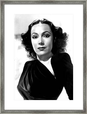 Dolores Del Rio, Portrait Ca. 1940 Framed Print by Everett