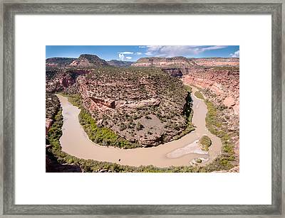 Dolores River Bend Framed Print by Josh Whalen
