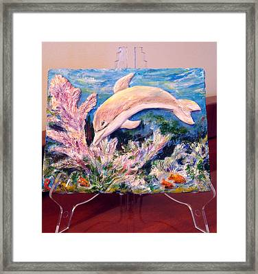 Dolphin - Almost Real Framed Print