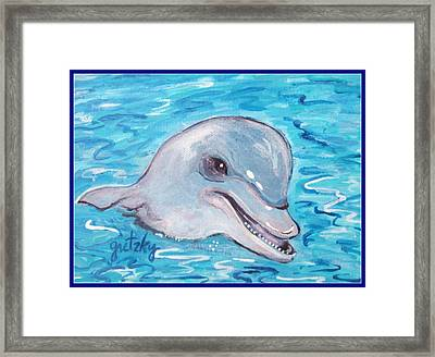 Dolphin 2 Framed Print by Paintings by Gretzky