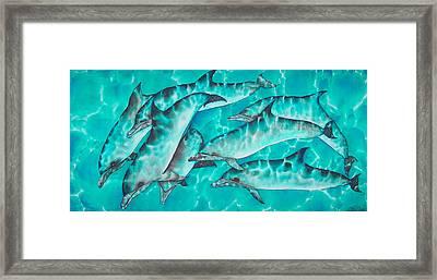 Dolphin Pod Framed Print by Daniel Jean-Baptiste