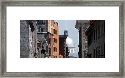 Framed Print featuring the photograph Dome Bonsecours Market by John Schneider
