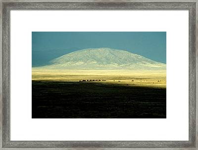 Framed Print featuring the photograph Dome Mountain by Brent L Ander