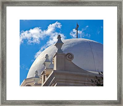 Dome Of San Xavier Mission Framed Print