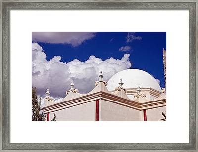 Dome Of The Mission San Xavier Framed Print by Jon Berghoff