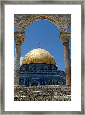 Framed Print featuring the photograph Dome Of The Rock  by Eva Kaufman