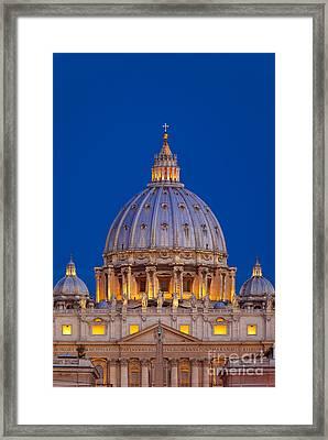 Dome San Pietro Framed Print by Brian Jannsen
