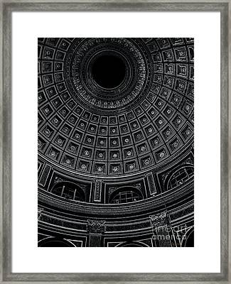 Framed Print featuring the photograph Dome. Vatican. Black by Tanya  Searcy