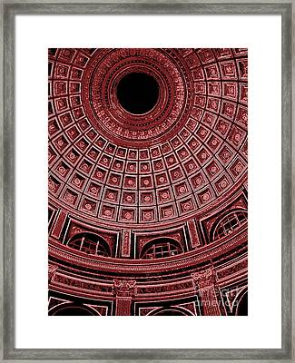 Framed Print featuring the photograph Dome. Vatican. Red by Tanya  Searcy