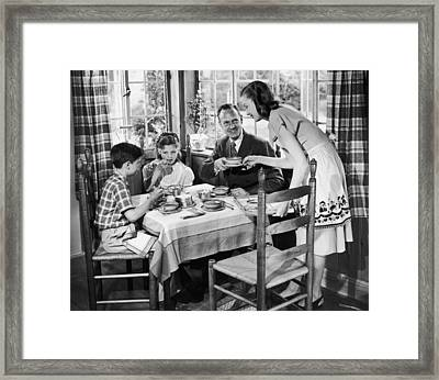 Domestic Bliss Framed Print by A E French