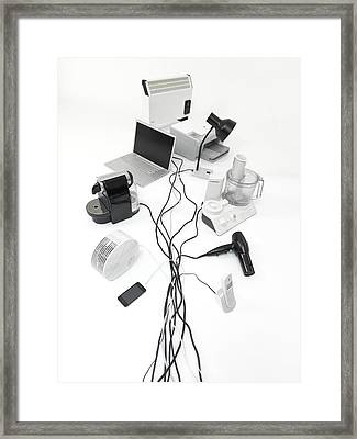 Domestic Electrical Appliances Framed Print by Tek Image
