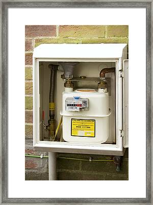 Domestic Gas Meter Framed Print by Sheila Terry