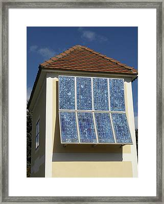 Domestic Solar Panel Framed Print by Friedrich Saurer