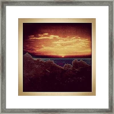 Dominican Republic Sunset Framed Print
