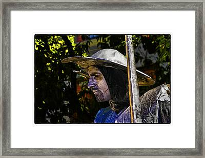 Framed Print featuring the photograph Don Quixote Color by Rick Bragan