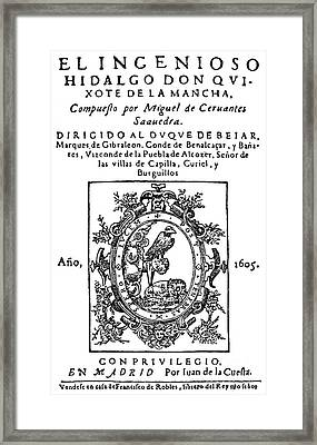 Don Quixote, Title Page Framed Print