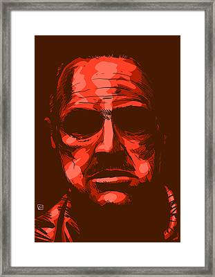 Don Vito Corleone Framed Print by Giuseppe Cristiano