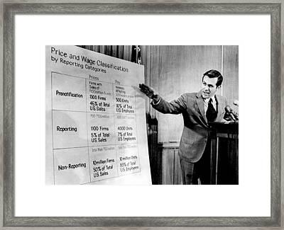 Donald Rumsfeld, As Cost Of Living Framed Print