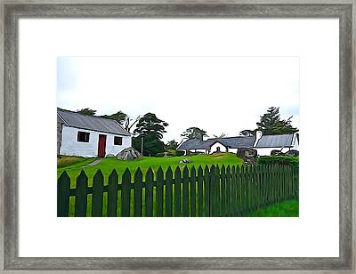 Framed Print featuring the photograph Donegal Home by Charlie and Norma Brock