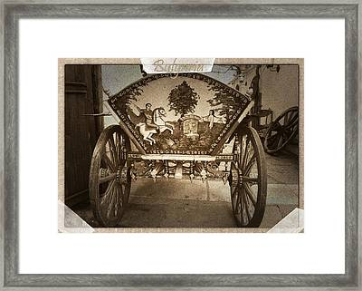 Donkey Cart Framed Print by Cliff Norton