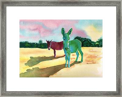 Donkeys With An Attitude Framed Print