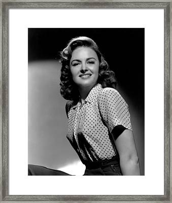 Donna Reed, 1944 Framed Print by Everett