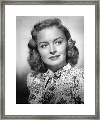 Donna Reed, Ca. 1940s Framed Print by Everett