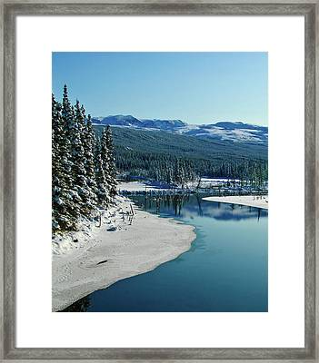 Donnelly Creek Framed Print by Jim and Kim Shivers