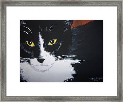 Framed Print featuring the painting Don't Bug Me by Norm Starks