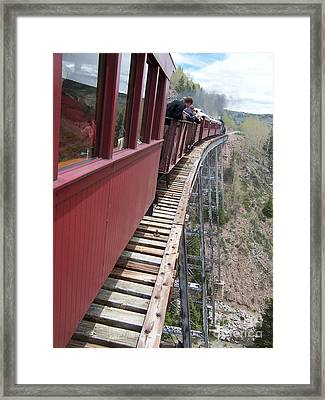 Don't Look Down Framed Print by Luke Moore