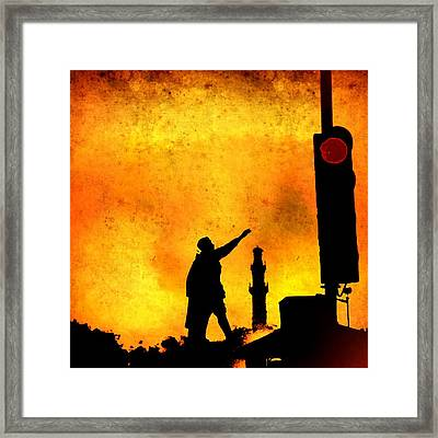 Dont Stop March On Framed Print