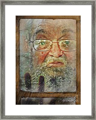Framed Print featuring the digital art Don't You See Me?  I'm Here. .  by Rhonda Strickland