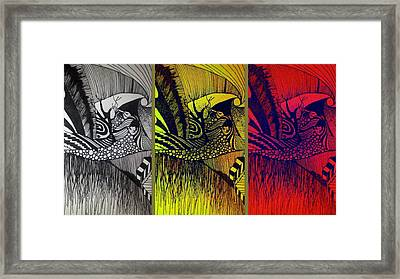 Framed Print featuring the drawing Doodle by Susan  Solak