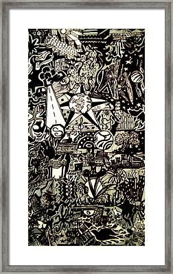 Doodles Black And White Framed Print by MikAn 'sArt