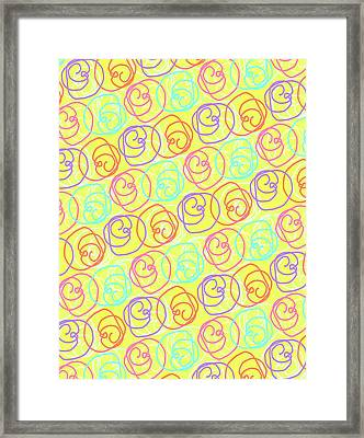 Doodles Framed Print by Louisa Knight