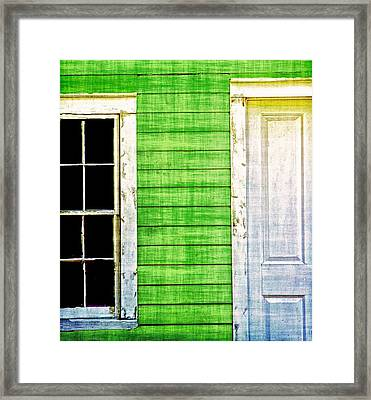 Door And Window Framed Print