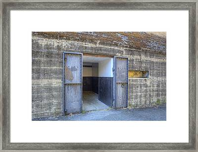 Door And Windows Of A Disused Gunnery Framed Print