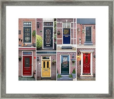 Framed Print featuring the photograph Door Background by Ariadna De Raadt
