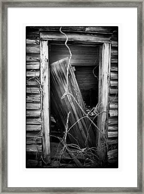 Door Bw Framed Print by Mark Wagoner