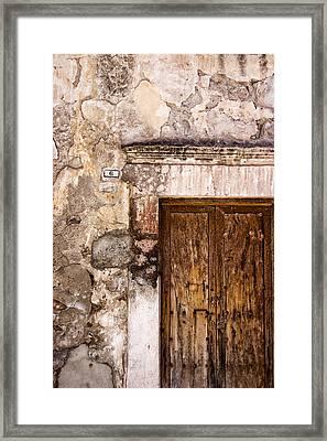 Door Detail Mexico Framed Print