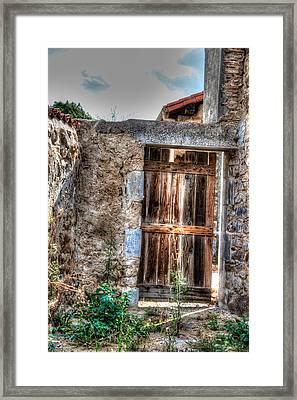 Door Framed Print by Elena Melnikova