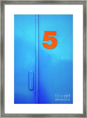 Door Five Framed Print