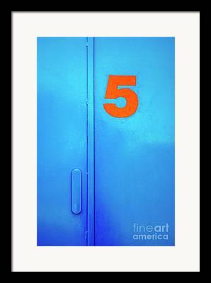 Blue Door Framed Prints